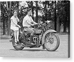 Harley Motorcycle Acrylic Prints