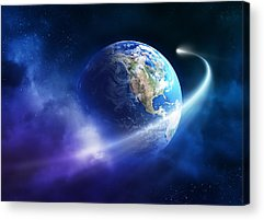 Solar Eclipse Digital Art Acrylic Prints