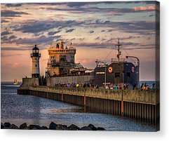 Duluth Canal Park Canal Park Lighthouse Lighthouse Lake Superior Minnesota Acrylic Prints