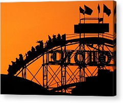 Cyclone Rollercoaster Acrylic Prints