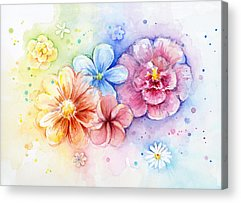 Soft Colors Paintings Acrylic Prints
