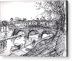 River Drawings Acrylic Prints