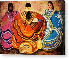 Three Girls Acrylic Prints