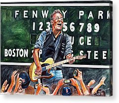 Bruce Springsteen Drawings Acrylic Prints