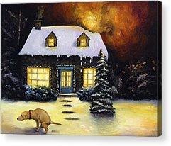 Cottages Acrylic Prints