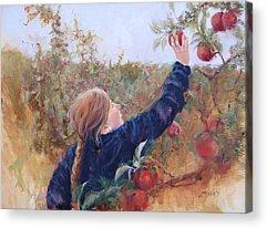 Picking Apples Acrylic Prints
