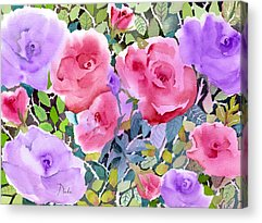 Pinks And Purple Petals Acrylic Prints