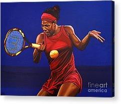 Serena Williams Acrylic Prints