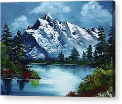 Bob Ross Acrylic Prints