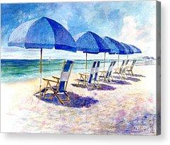 Beach Umbrella Acrylic Prints