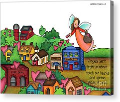 Small Towns Drawings Acrylic Prints