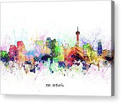 Designs Similar to San Antonio Skyline Artistic