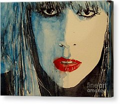 Lady Gaga Paintings Acrylic Prints