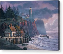 Lighthouses Paintings Acrylic Prints