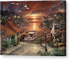 New England Village Acrylic Prints
