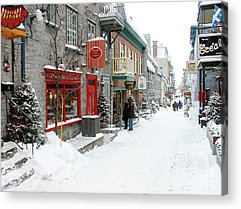 Quebec City Photographs Acrylic Prints