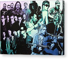 Stone Temple Pilots Paintings Acrylic Prints