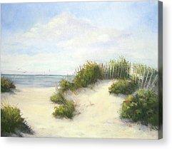 Sand Dunes Paintings Acrylic Prints