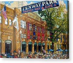 Baseball Stadiums Paintings Acrylic Prints