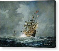 Pirate Ships Paintings Acrylic Prints