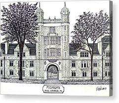 Historic Buildings Drawings Acrylic Prints