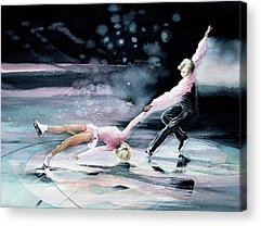 Olympic Figure Skating Paintings Acrylic Prints