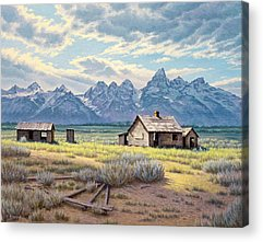 Old Cabins Acrylic Prints