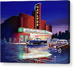Robby The Robot Paintings Acrylic Prints