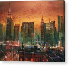 City Scene Acrylic Prints