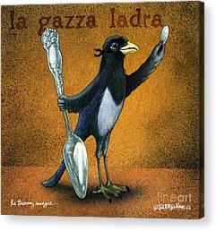 Magpies Acrylic Prints
