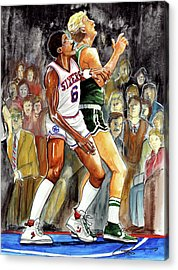 Dr. J Paintings Acrylic Prints