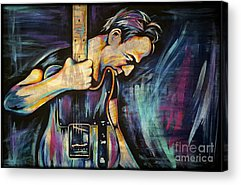 Rock Music The Boss Acrylic Prints