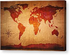 Ancient Map Acrylic Prints