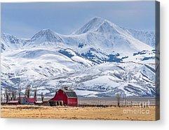 Mountain Range Acrylic Prints