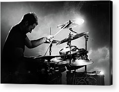 Rock And Roll Drummer Acrylic Prints