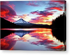 Trillium Lake Acrylic Prints