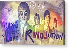 Rock N Roll George Harrison Acrylic Prints
