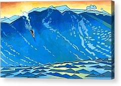 Surfing Acrylic Prints