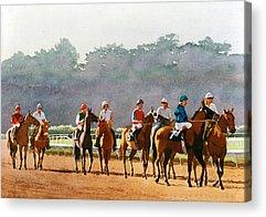 Racing Acrylic Prints