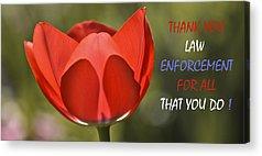 Law Enforcement Mixed Media Acrylic Prints