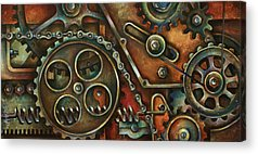 Gear Paintings Acrylic Prints
