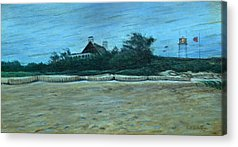Storm Clouds Cape Cod Paintings Acrylic Prints