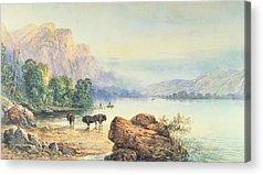 Mountain Paintings Acrylic Prints
