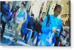 Faces In The Crowd Acrylic Prints