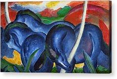 The Blue Rider Acrylic Prints