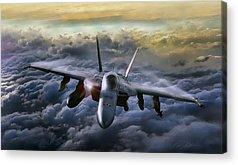 A-18 Hornet Acrylic Prints