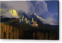 Castle Digital Art Acrylic Prints