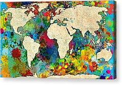 Map Paintings Acrylic Prints
