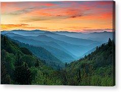 North Carolina Mountains Acrylic Prints