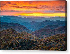 Mountain Sunset Acrylic Prints